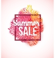 Summer sale watercolor flower decoration vector image vector image