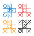 tic tac toe set noughts and crosses board game vector image