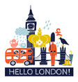 tourist london poster vector image vector image