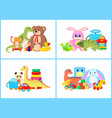 toys for children collection vector image vector image