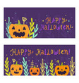two banners templates halloween vector image