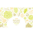 vegetarian background with natural organic vector image