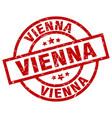 vienna red round grunge stamp vector image vector image