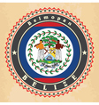 Vintage label cards of Belize flag vector image vector image