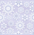 white paper snowflakes on grey seamless background vector image vector image