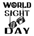 world sight day concept background simple style vector image