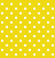 yellow polka dot seamless pattern vector image
