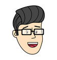 young man face cartoon vector image vector image