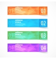 Abstract modern flat infographics options banner vector image