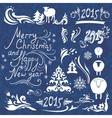 Christmas design elements set vector image