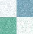 Set of patterns with shells vector image