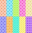 10 Colorful Flower Patterns vector image