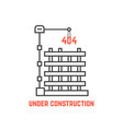 under construction like server error vector image