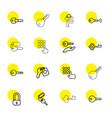 16 unlock icons vector image vector image