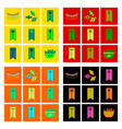 assembly flat icons halloween garland candy vector image
