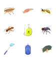 Bad pests icons set cartoon style vector image vector image