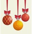 ball merry christmas design isolated vector image vector image