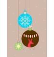 Balls for Christmas vector image vector image
