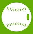 baseball ball icon green vector image vector image
