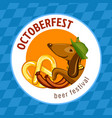 bavarian octoberfest concept background cartoon vector image