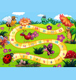 board game with insect theme vector image vector image