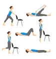 Body workout exercise fitness training set vector image vector image