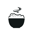 Bowl with porridge simple black icon on white vector image vector image