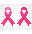 Breast cancer awareness pink single ribbon vector image vector image