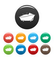 bubblebath bathtube icons set color vector image vector image
