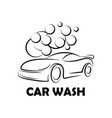 car wash logo image vector image