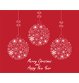 Christmas Ball red vector image