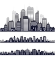 city silhouette isolated on white vector image vector image