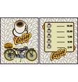coffee shop design elementsMotorcycle vector image vector image