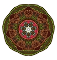 coloring mandala Oriental pattern vector image vector image
