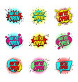 colour speech bubbles we are open vector image vector image