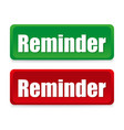 coloured buttons reminders vector image vector image