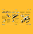 commercial cargo transport service website vector image vector image