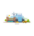 construction building house premises transport vector image vector image