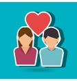 couple love design vector image