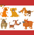 cute dog animals set vector image vector image