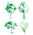 decorative tree set vector image vector image