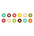 donut and cupcake doughnut with chocolate and vector image