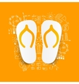 Drawing business formulas slippers vector image vector image
