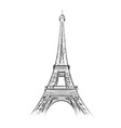 eiffel tower on the white vector image vector image