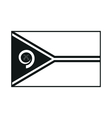 flag vanuatu monochrome on white background vector image
