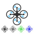 flying quadcopter flat icon vector image vector image