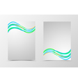 Front and back dynamic wave flyer template design vector image vector image