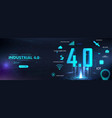 futuristic banner industry 40 vector image vector image