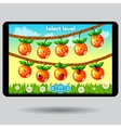 Game level selection fruit ui screen vector image vector image