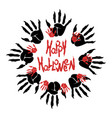 halloween zombie logo vector image